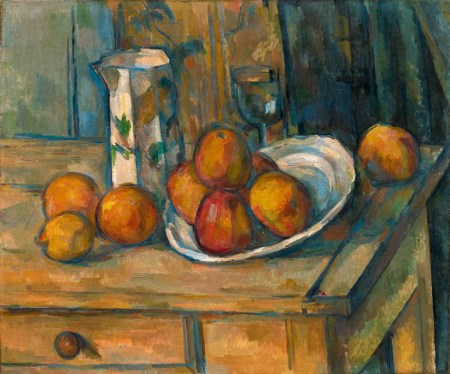 Cezanne - Still Life with Milk Jug and fruit (1900)