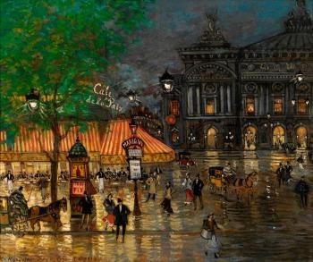 Konstantín Alekséyevich Korovin - La plaça de la Opera de París