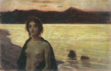 Ludwig van Hoffman - Frauenakt vor Abendlandschaft