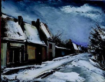 maurice-de-vlaminck-rue-de-village-en-hiver