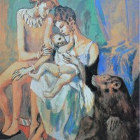 familia de acróbatas con mono (Picasso, 1905)