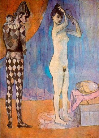 picasso-familia-de-arlequin-1905