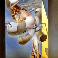 joven virgen autosodomizada por los cuernos de su propia castidad (Dali, 1954)