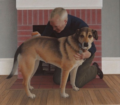 david-alexander-colville-dog-and-groom