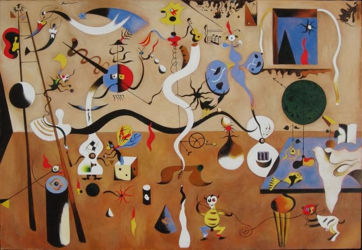 Joan Miro - Harlequin's carnival (1924)