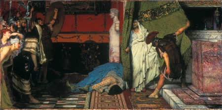 A Roman Emperor: 41 AD *oil on canvas *86 x 174.3 cm *signed b.r.: L Alma Tadema 71