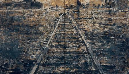 anselm-kiefer-eisen-steig-via-muerta-1986