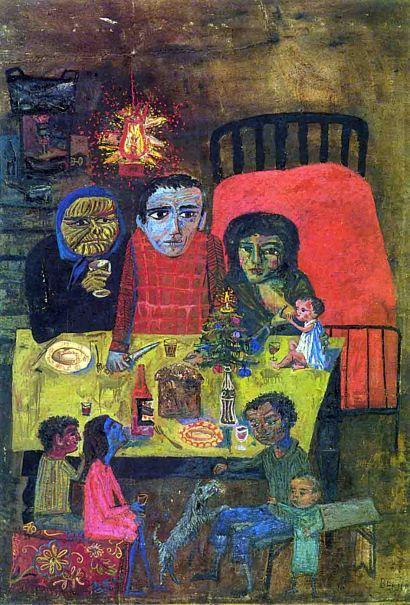antonio-berni-la-navidad-de-juanito-laguna-1962