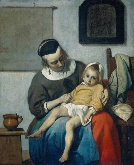 gabriel-metsu-la-nina-enferma-1660
