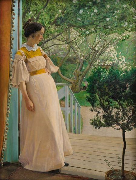 laurits-andersen-ring-en-la-puerta-del-jardin-la-esposa-del-artista-1897