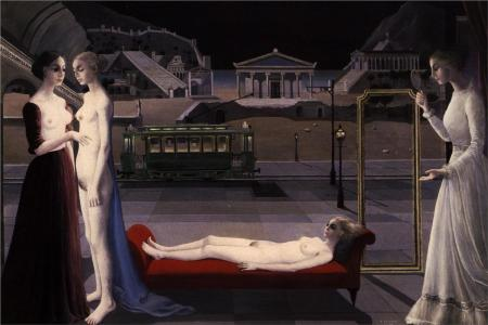 paul-delvaux-the-visit-of-ephesus-1973