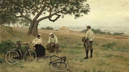 ramon-casas-el-descanso-de-los-ciclistas-1886