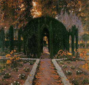 santiago-rusinol-la-glorieta-aranjuez-1909