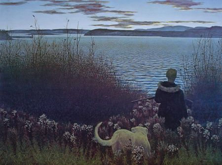 david-alexander-colville-dog-boy-and-st-john-river