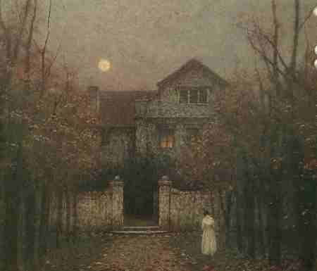jakub-schikaneder-evening-in-the-garden-1909