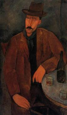 modigliani-hombre-con-un-vaso-de-vino