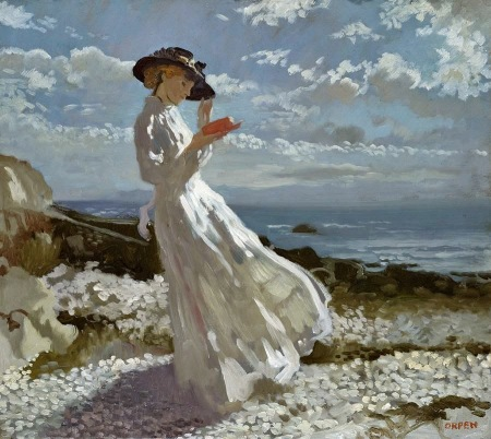 william-orpen-grace-reading-at-howth-bay