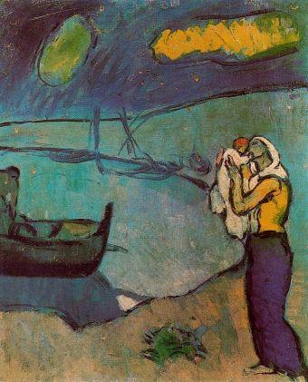 picasso-madre-y-nino-a-orilla-del-mar-1902