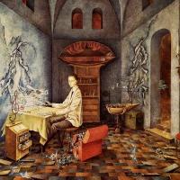 revelación o El relojero (Remedios Varo, 1955)