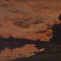 la tarde en Barbizon (Charles-François Daubigny, 1852)